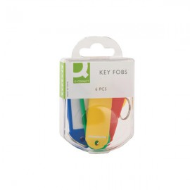 Q-Connect Key Fobs Assorted (Pack of 6)