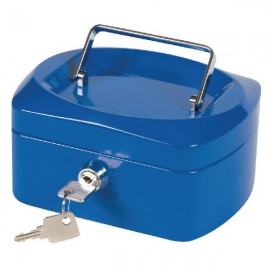 Q-Connect Blue 6 Inch Cash Box KF02608