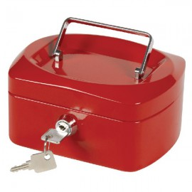 Q-Connect Red 6 Inch Cash Box KF04247