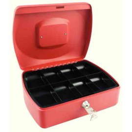 Q-Connect Red 10 Inch Cash Box KF04251