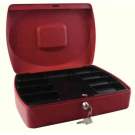 Q-Connect Red 12 Inch Cash Box KF04253