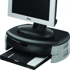 Q-Connect Monitor/Printer Stand/Drawer Black KF20081