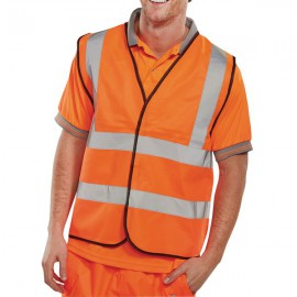 Hi-Viz Vest Orange EN ISO 20471 XL WCENGORXL