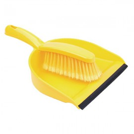 Yellow Dustpan and Brush Set Yellow 102940YL