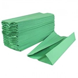 2Work Green 1-Ply C-Fold Hand Towel (Pack of 2880) HC128GRVW