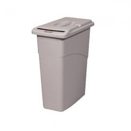 Rubbermaid Slim Jim Grey Confidential Waste Container FG9W1500LGRAY