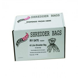 Safewrap 40 Litre Shredder Bags (Pack of 100) RY0470