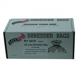 Safewrap 150 Litre Shredder Bags (Pack of 50) RY0472