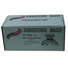 Safewrap 250 Litre Shredder Bags (Pack of 50) RY0474
