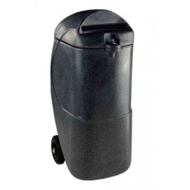 Black 90 Litre Mobile Confidential Waste Bin With Lock 313708