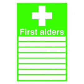 Safety Sign 300x200mm First Aiders Self-Adhesive FA01926S