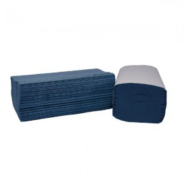 2Work Blue I-Fold 1-Ply Hand Towels 242x222mm (Pack of 3600) 2W70104