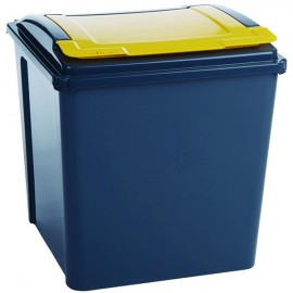 VFM Recycling Bin With Lid Yellow Grey/Yellow 384287