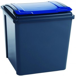 VFM Recycling Bin With Lid Blue Grey/Blue 384290