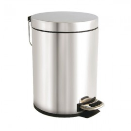 Stainless Steel Pedal Bin 5 Litre Silver VOW/PB.05