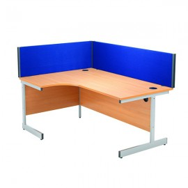 Jemini 1200mm Blue Straight Desk Screen KF73913