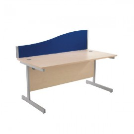 Jemini Wave 1400mm Blue Desk Screen KF73925