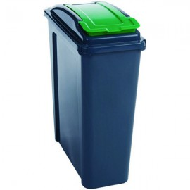 VFM Recycling Bin With Lid 25L Green