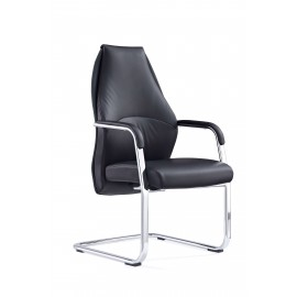 Mien Black and Mink Cantilever Chair