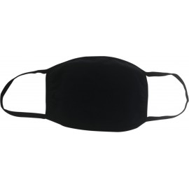 Reusable Cloth Masks 5x7in 4 Layer Cotton Black (Pack of 5) SY-200425B