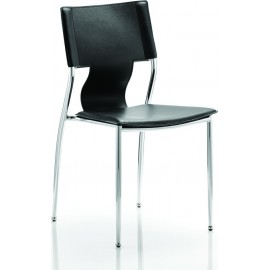 Zulu Visitor Chair Black Hard PVC