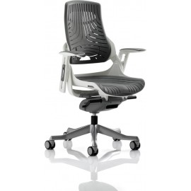 Zure Executive Chair Elastomer Grey With Arms