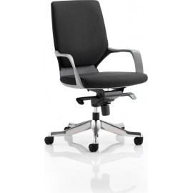 Xenon Executive Black Chair Black Fabric Medium Back With Arms