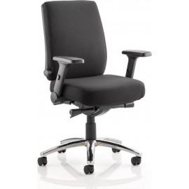 Velocity Task Operator Chair Black Fabric With Arms