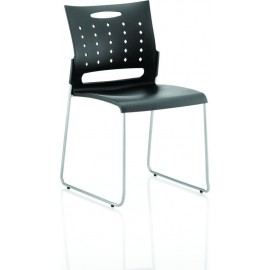 Slide Visitor Chair Black Polypropylene
