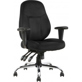 Storm Task Operator Chair Black Fabric With Arms