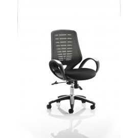 Sprint Task Operator Chair Airmesh Seat Black Back With Arms