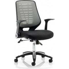Relay Task Operator Chair Airmesh Seat Silver Back With Arms