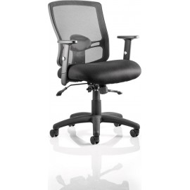 Portland II Task Operator Chair Black Mesh With Arms