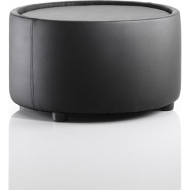 Neo Round Table Black Leather