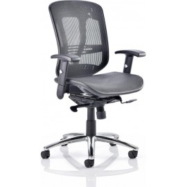 Mirage Executive Chair Black Mesh With Arms Without Headrest