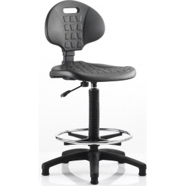 Malaga Draughtsman Task Operator Chair Polyurethane Seat And Back