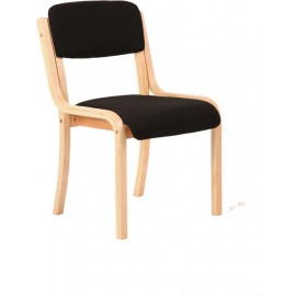 Madrid Visitor Chair Black Without Arms