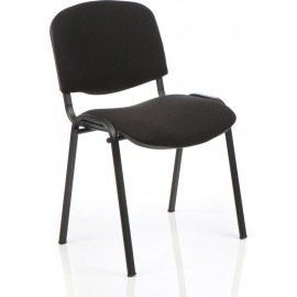 ISO Visitor Chair Black Fabric Black Frame Without Arms