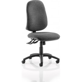 Eclipse XL III Lever Task Operator Chair Charcoal Without Arms