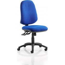 Eclipse XL III Lever Task Operator Chair Blue Without Arms