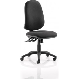 Eclipse XL III Lever Task Operator Chair Black Without Arms
