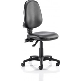 Eclipse II Lever Task Operator Chair Vinyl Black Without Arms