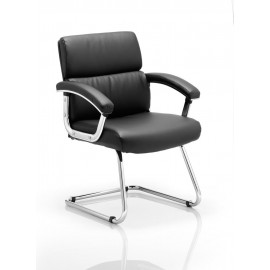 Desire Visitor Cantilever Chair Black With Arms