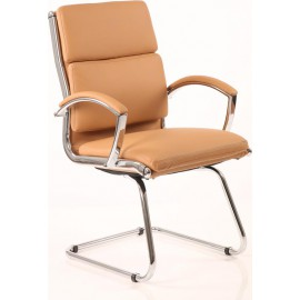 Classic Visitor Cantilever Chair Tan With Arms