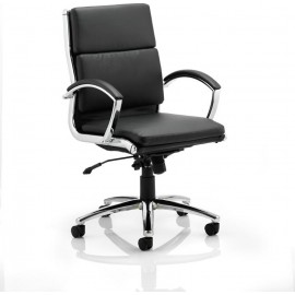 Classic Executive Chair Black With Arms Medium Back