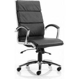 Classic Executive Chair Black With Arms High Back
