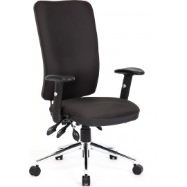 Chiro Task Operators Chair Black With Arms High Back