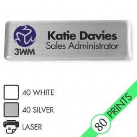 Mighty Badge Starter Pack - Silver - for laser printers