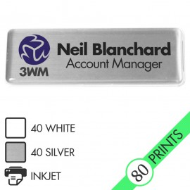 Mighty Badge Starter Pack - Silver - for inkjet printers