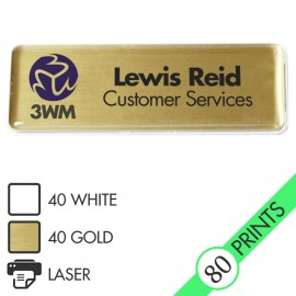 The Mighty Badge™ 10-Unit Kit [Gold] for LASER